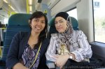 Me and Aunty Aisah on our way to London Victoria